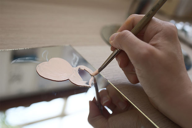 diy painted mirror frankie step 2