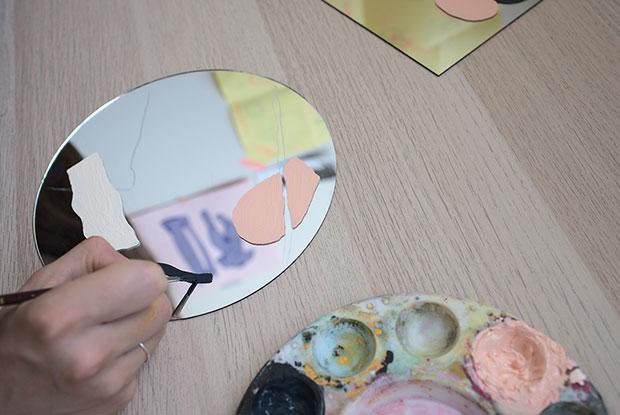 diy painted mirror frankie step 4