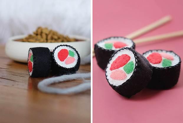 diy sushi cat toy 01
