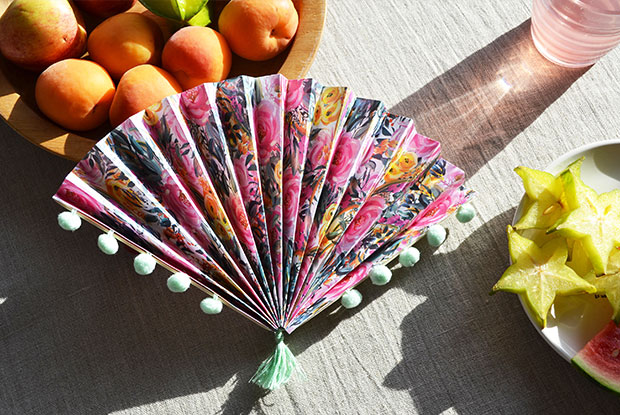 frankie diy how to make a paper fan STYLED