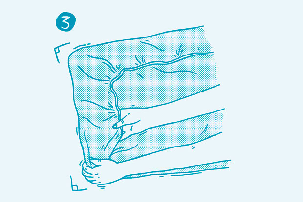 how to fold a fitted sheet step 3 frankie