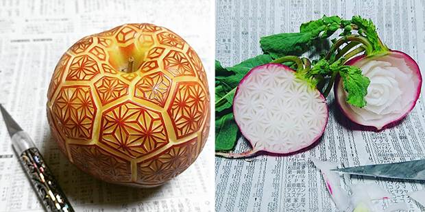 japanese fruit carvings 1