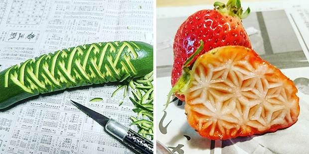 japanese fruit carvings 2