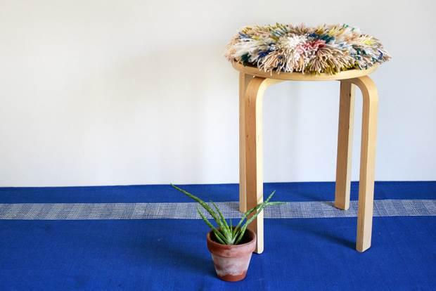 shag stool 1