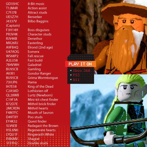 LEGO Video Games Cheats – K-Zone