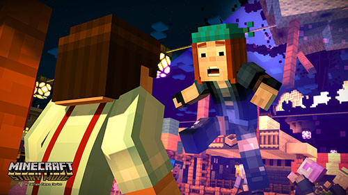 Minecraft Story Mode in action