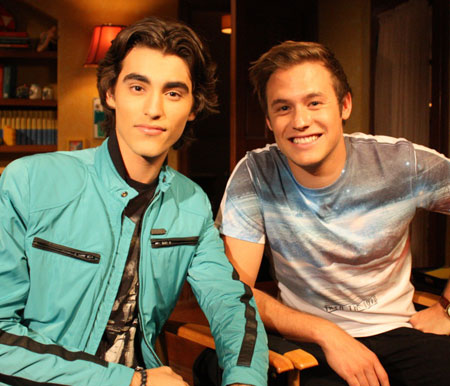 Nathan and Blake Michael from 'Dog With A Blog'!