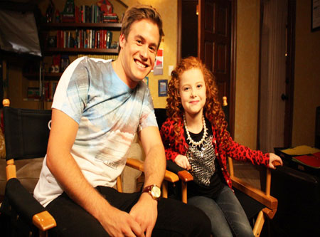 Nathan met Francesca Capaldi from 'Dog With A Blog'!