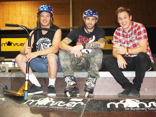 Photo: Nathan meets Ryan and Chris from Nitro Circus