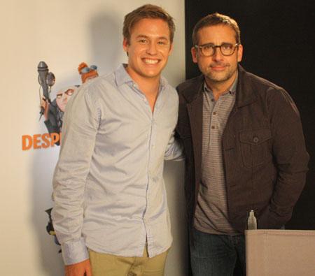 Saturday Disney's Nathan met Steve Carrell!