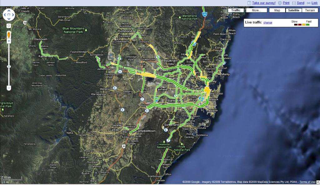 Google To Help Drivers Get To Work SUNA With Live Traffic Maps - Live aerial maps