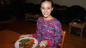 Ballerina: dinner time