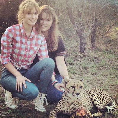 Bella, her Mum and a Leopard