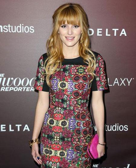 Bella Thorne rocks a patterned, paisley dress. Photo: Facebook