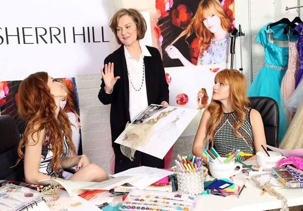 Bella Thorne with designer Sherri Hill. Photo: Facebook