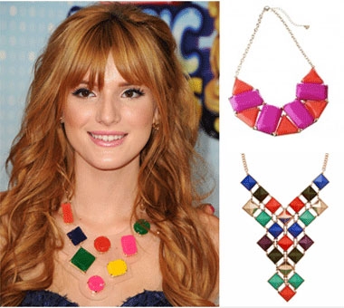 Bella's chunky necklace style