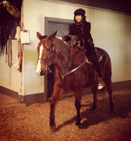 Carly Rae Jepsen goes horse riding. We'd love to learn!