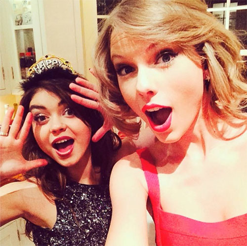 Celeb Best Friends: Taylor Swift and Sarah Hyland. Photo: Facebook