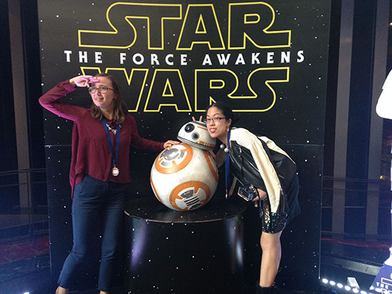 Claire and Erin and BB-8