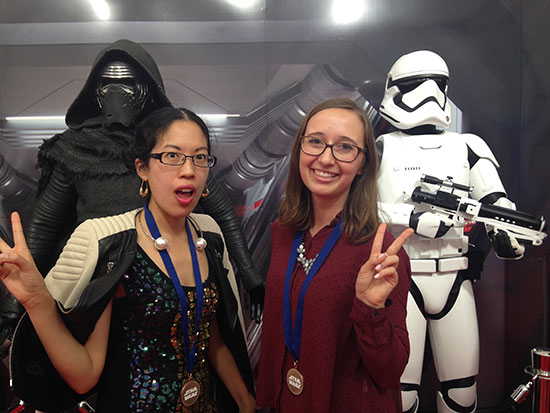 Claire and Erin with Kylo Ren and Stormtrooper