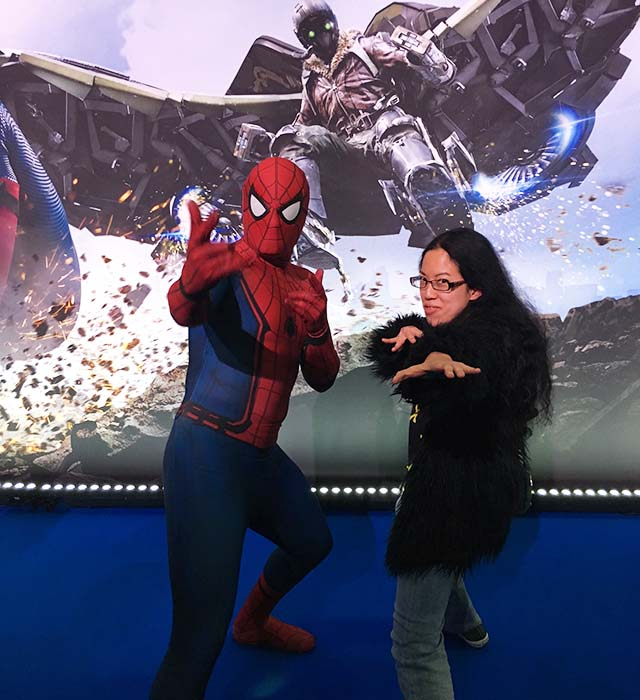 Claire and Spider-Man