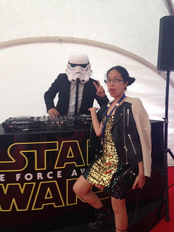 Claire and Stormtrooper DJ