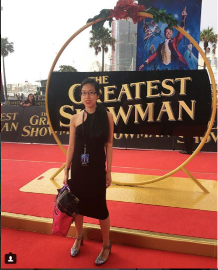 Claire at The Greatest Showman