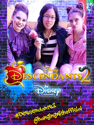 Claire with performers at Descendants 2's premiere