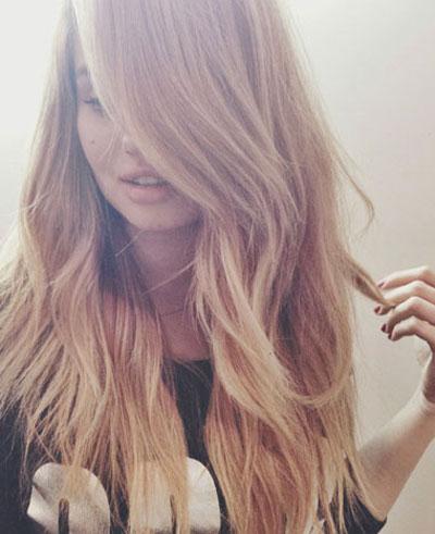 Debby Ryan's New Blonde Hairdo