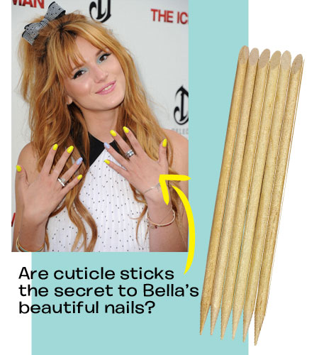 Perfect Manicure Tips: Use cuticle sticks to clean the edges of your nails. Getty Images.