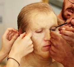Niall's make-up. Photo: Facebook