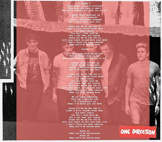 1D Lyrics: 'Diana' - Total Girl