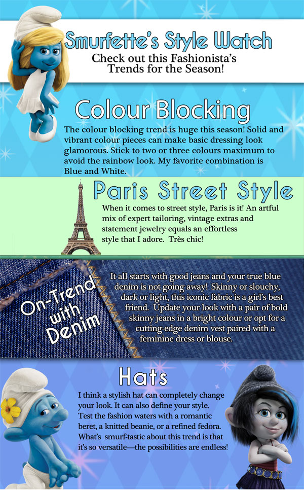 Smurfette's fashion tips!