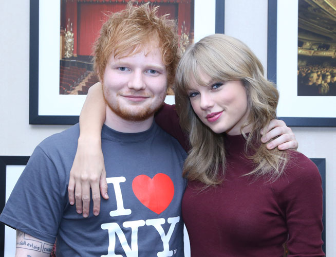 Taylor Swift and Ed Sheeran could they be collaborating?