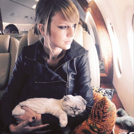 Taylor Swift with Olivia Benson on a plane