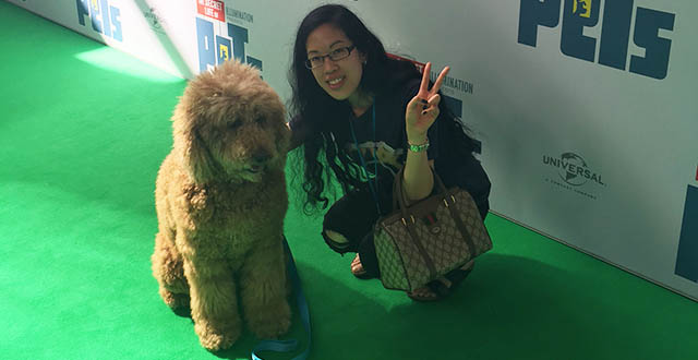 TG's Claire and Red the poodle