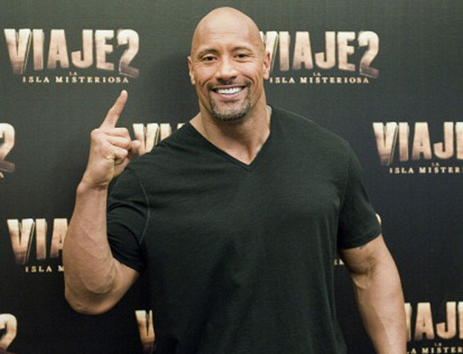 The Rock Dwayne Johnson muscles to be a bodyguard