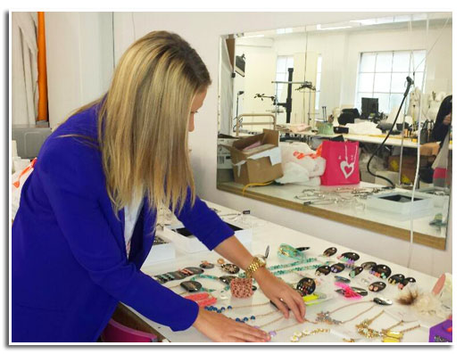 Throwback Thursday: Stylist Lattitia lays out Bridgit Mendler's accessories.