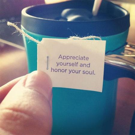 Victoria's Wise Tea Bag! Photo: Facebook