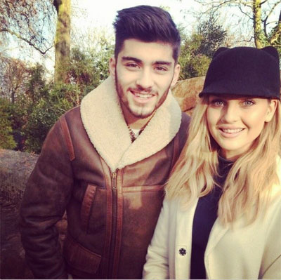 Zayn Malik and his fiance Perrie Edwards. Photo: Facebook