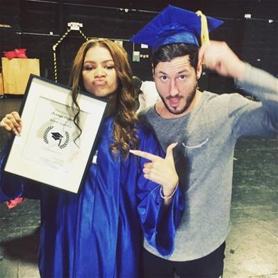 Zendaya and Val at her high school graduation
